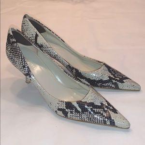Nine West leather heels python 9